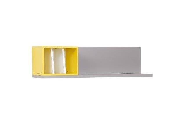 Wandregal Vector weiß grau gelb