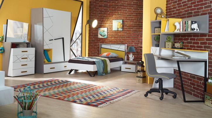 Jugendzimmer Vector weiß grau gelb
