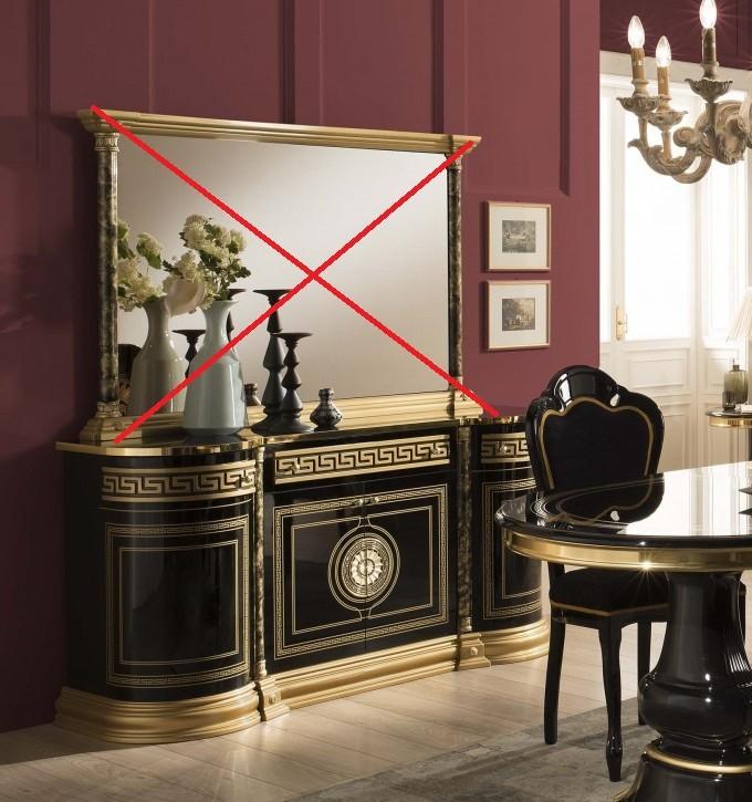 Kommode ohne spiegel Venus in Schwarz Gold Barock
