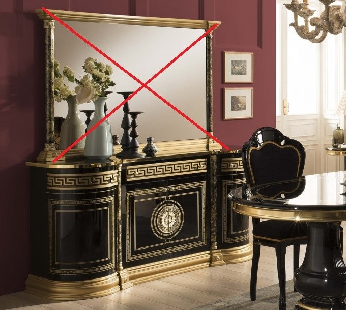 Venus Buffetkommode Sideboard in Schwarz Gold
