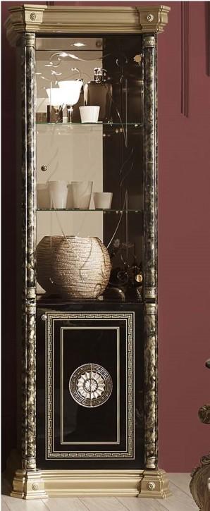 Vitrine 1 trg Venus Schwarz gold italienisch klassisch Design
