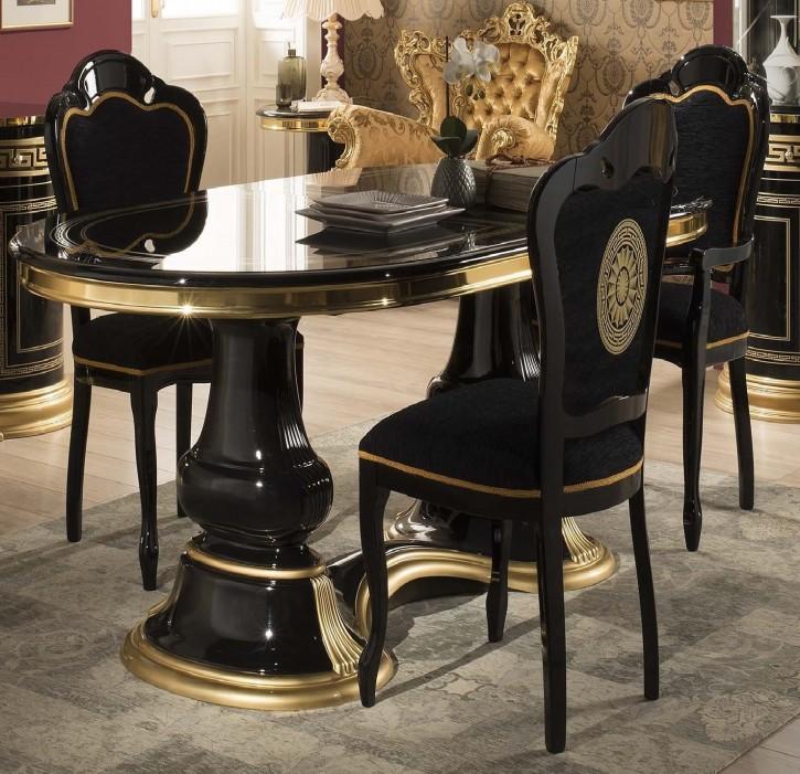 Stuhl Venus in schwarz/gold