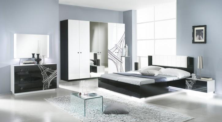 Schlafzimmer VIVIENNE in Schwarz Weiß Modern Design