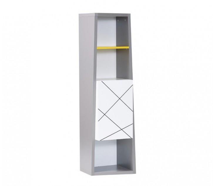 Bücherregal Vector weiß grau gelb