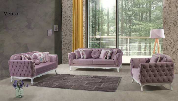 Sofa Set Vento 3+2+1 in Lila