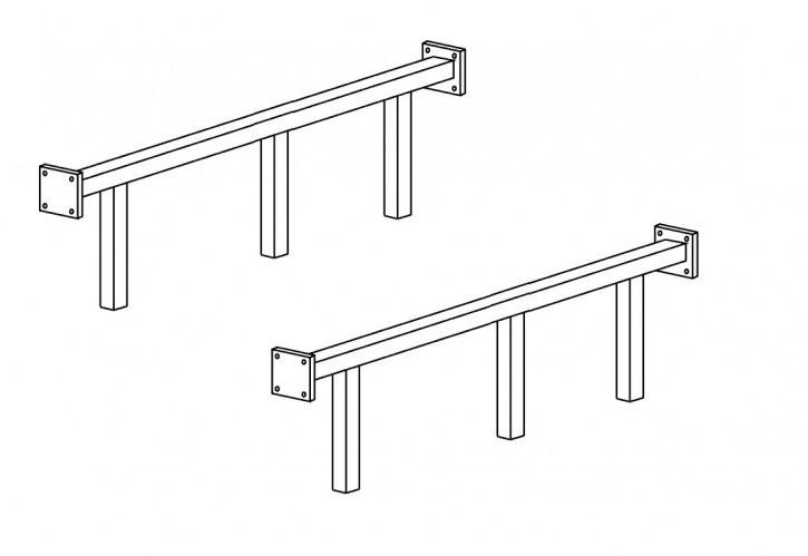 Verstärkungs Metallstangen für 160 oder 180 Bett