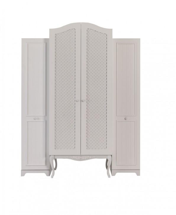 Kleiderschrank Kombination Viki 4 türig in Weiß