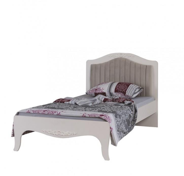 Kinderbett Mädchenbett 100x200 cm Viki in Weiß