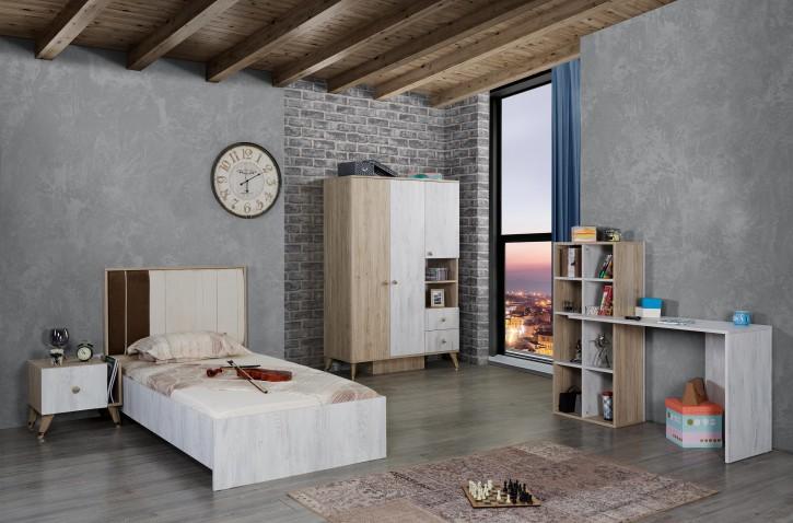 Jugendzimmer Set Flori 4-teilig inklusive Schreibtisch