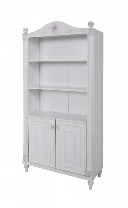 Bücherregal in Weiß Goldi mit viel Stauraum 2-türig