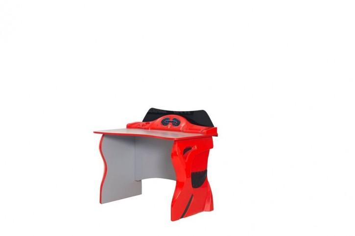 Schreibtisch für Kinderzimmer Garage in Rot Schwarz