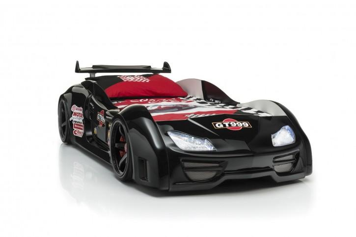 Autobett Turbo GT in Schwarz mit Sound und LED Beleuchtung