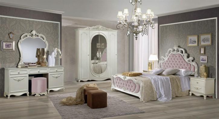 Schlafzimmer Atene in Creme Rosa im Königlichen Stil
