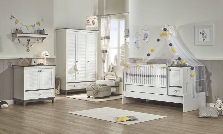 Babyzimmer Set 4-teilig Mia mit Schaukelbett