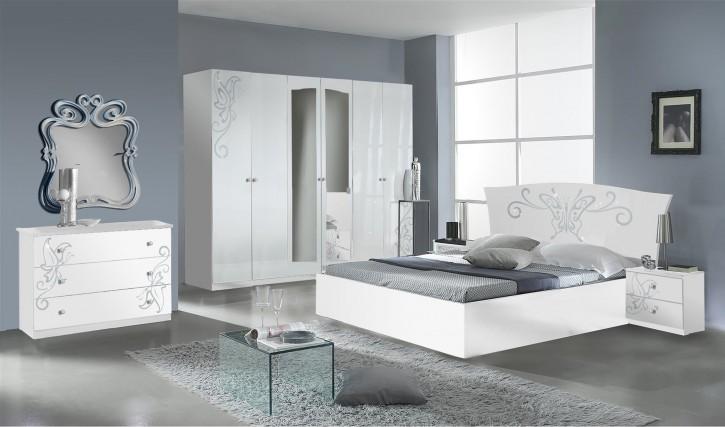 Schlafzimmer Butterfly in Weiß 6 teilig Modern Design