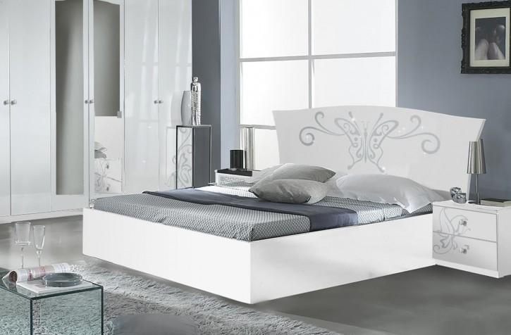 Bett Butterfly 160x200cm in Weiß Modern