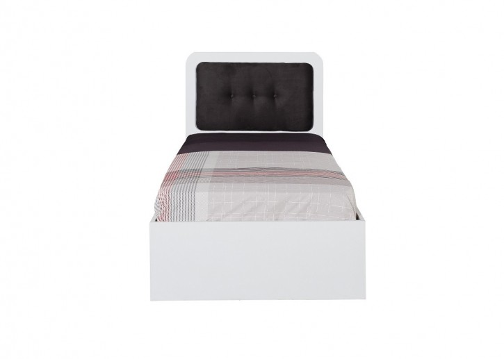 Bett Puzzle mit gepolstertem Kopfteil 90x190 cm