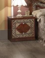 Nachtkonsole walnuss Elena für Schlafzimmer Klassik Stilmöbel