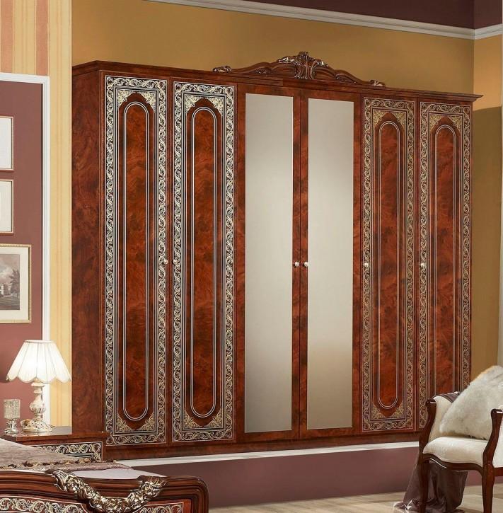 Kleiderschrank Elena in Walnuss Klassisch Design