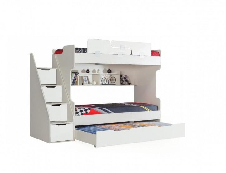 Etagenbett HOYKA in Weiss Hochbett Kinderbett Bett