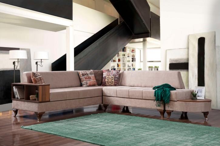 Ecksofa Eylül in Beige Modern Design