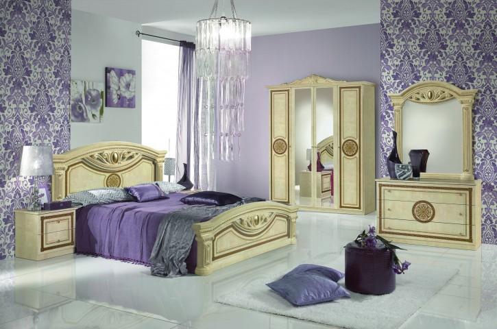 Schlafzimmer GIULIA in Gold Beige Klassik Barock