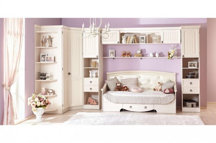 Kinderzimmer Amelie in Creme/Weiss Landhaus Stil 7-Teilig
