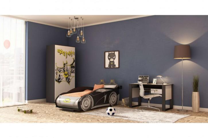 Kinderzimmer Set Batman inkl. Autobett 3-Teilig