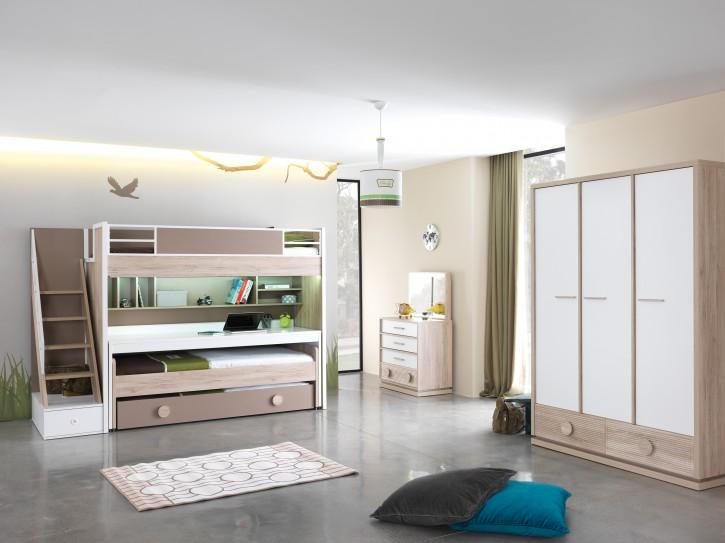 ALFA Etagenbett mit Kleiderschrank Kinderzimmer