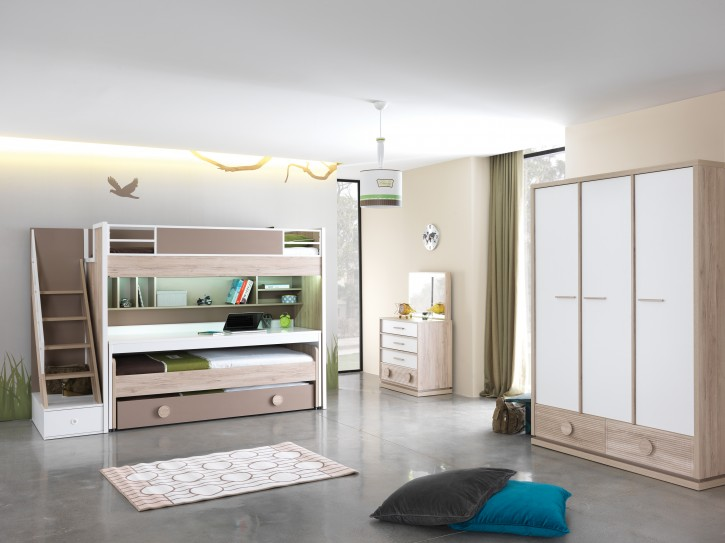 Etagenbett Kinderzimmer ALFA