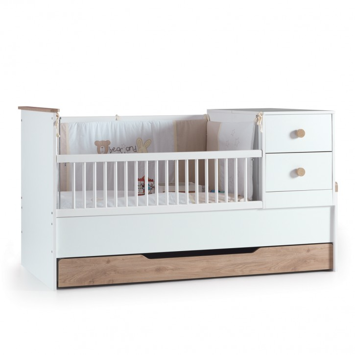 BabyBett Life In Weiss 80 x 130 cm