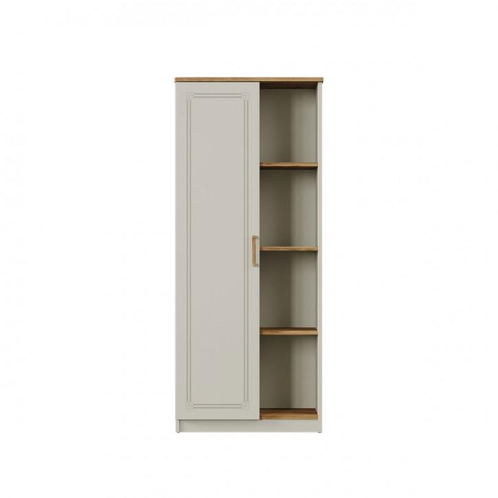 Bücherregal Story mit Tür in Eiche- & Nerzfarben