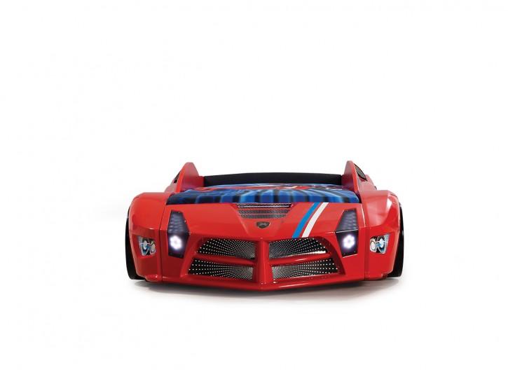 Autobett Luxury Standart in rot mit Frontbeleuchtung
