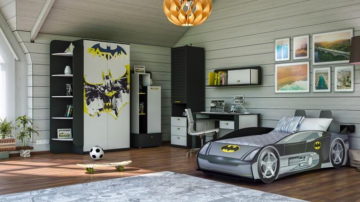 Kinderzimmer Set mit Autobett Batman 7-teilig