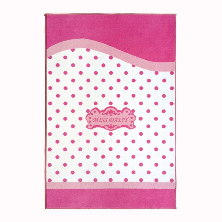 Kinderteppich Papatya in Weiss Pink
