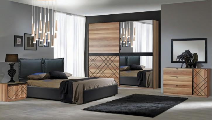 Schlafzimmer Set Canova in Schwarz Buche