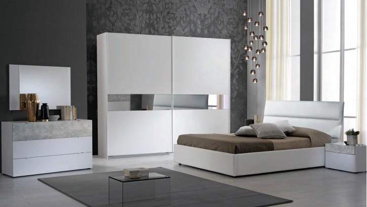 Schlafzimmer Set Miyuki in Weiss Grau