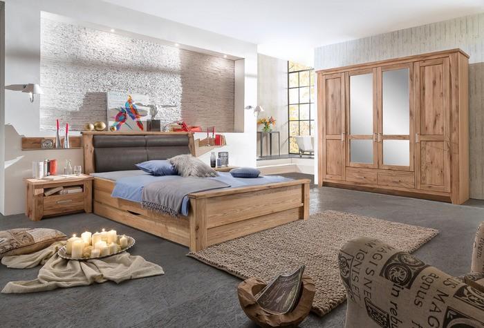 Schlafzimmer Toronto im Landhausstil Asteiche massiv geölt