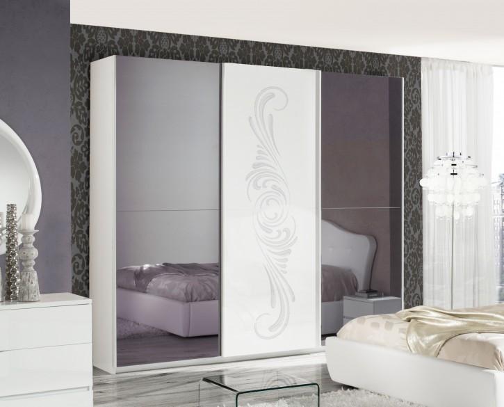 Kleiderschrank VALENTINA in Weiss Luxus im italienische Design