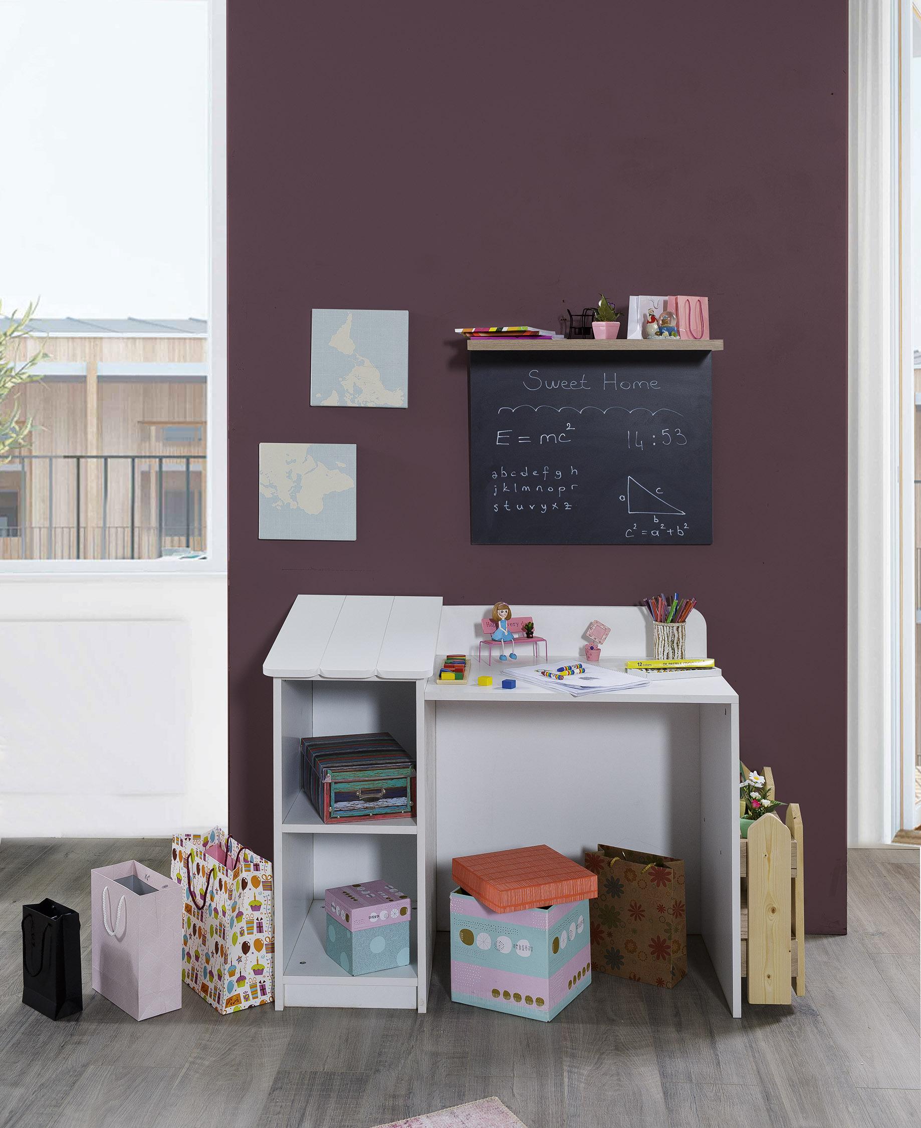 Modernes Jugend-Kinderzimmer in Weiß Blau