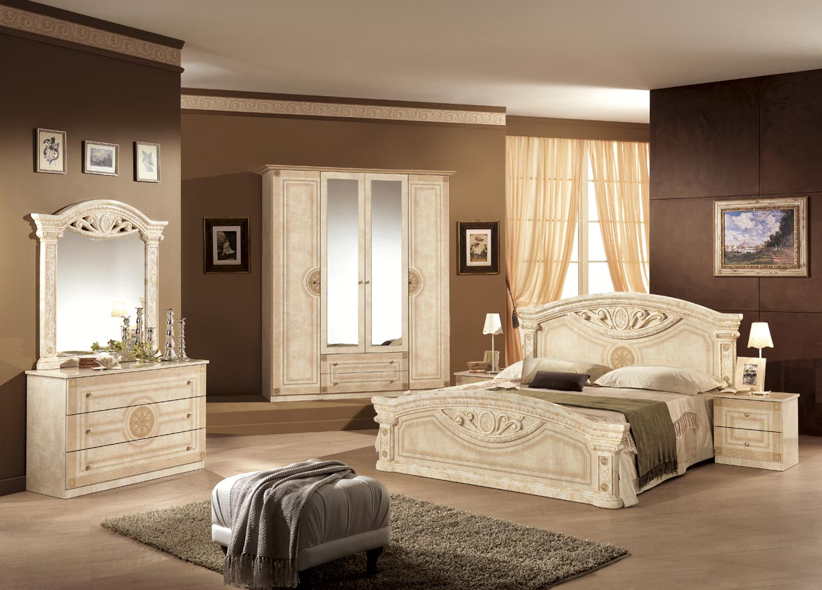 schlafzimmer rana in schwarz gold 180 bett 6 trg klassik italien dh r 6a 180 ng 2. Black Bedroom Furniture Sets. Home Design Ideas
