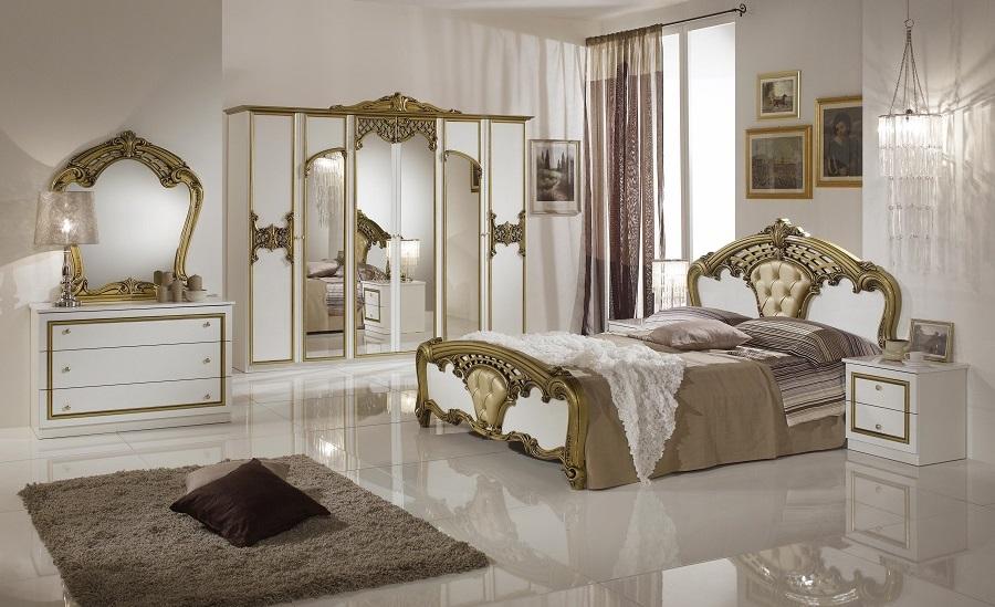 schlafzimmer elisa weiss silber 160 x 200 cm klassisch royal sti dh eva b c s 4a2x16. Black Bedroom Furniture Sets. Home Design Ideas