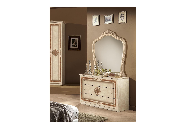 kommode mit spiegel in beige lucy f r schlafzimmer klassik. Black Bedroom Furniture Sets. Home Design Ideas