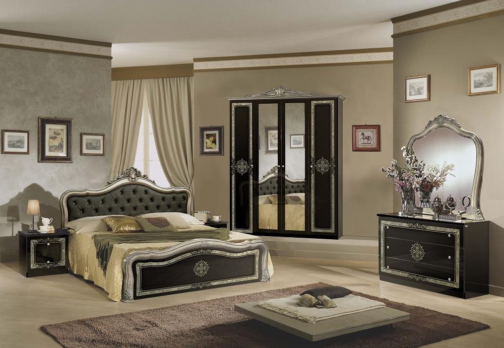 Schlafzimmer schwarz gold lucy klassik barock stilm bel for Schwarz gold schlafzimmer