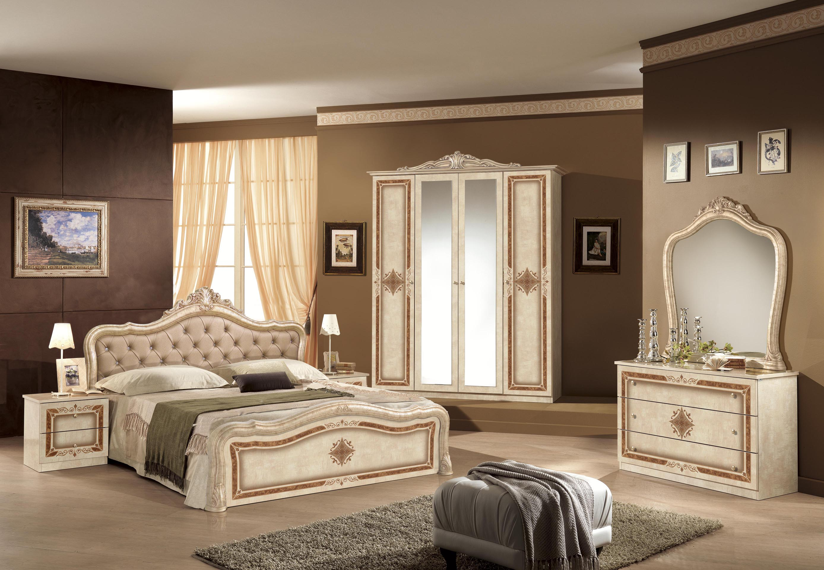 schlafzimmer in schwarz silber lucy klassik barock. Black Bedroom Furniture Sets. Home Design Ideas
