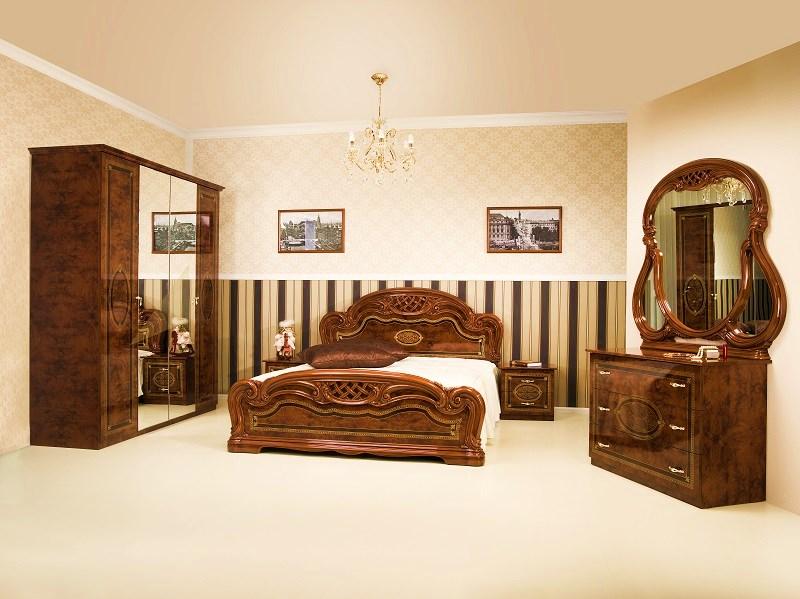 Schlafzimmer Lana beige creme weiss Barock Klassik-ID-LA4