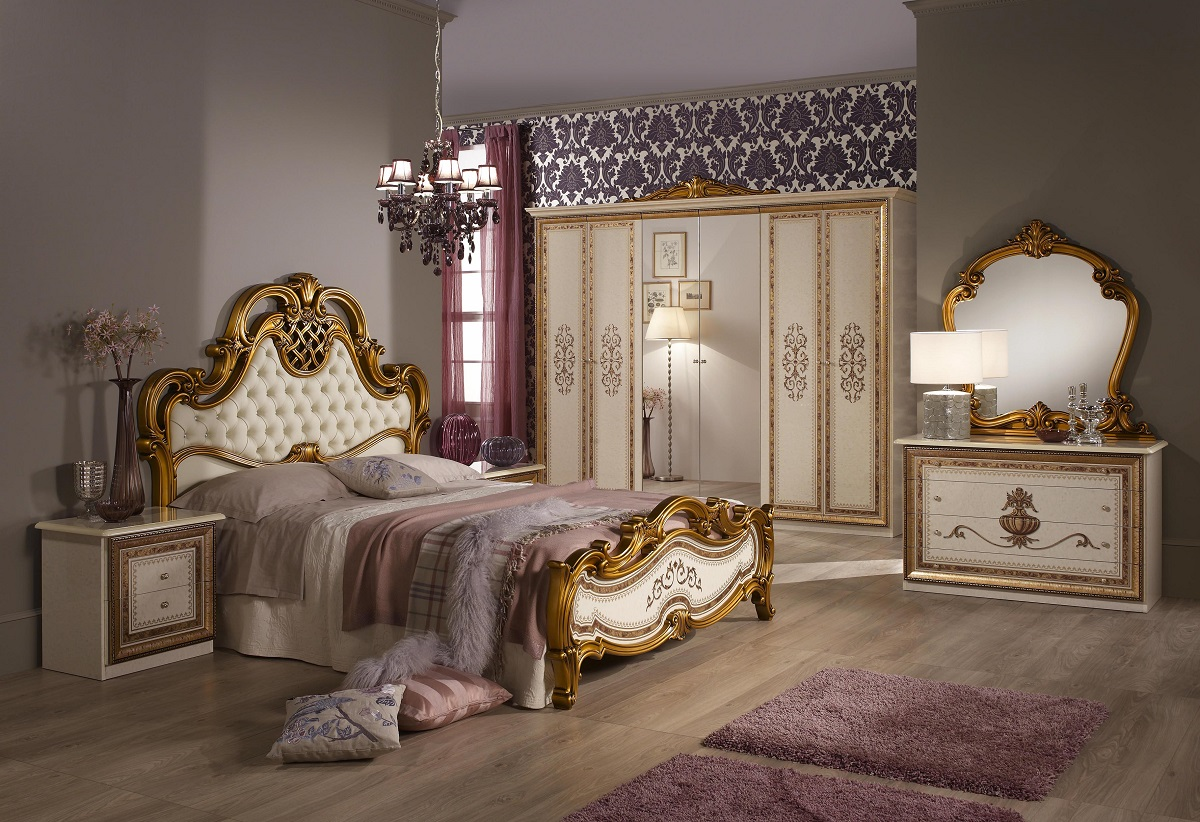 nachtkonsole anja beige f r schlafzimmer italienische. Black Bedroom Furniture Sets. Home Design Ideas
