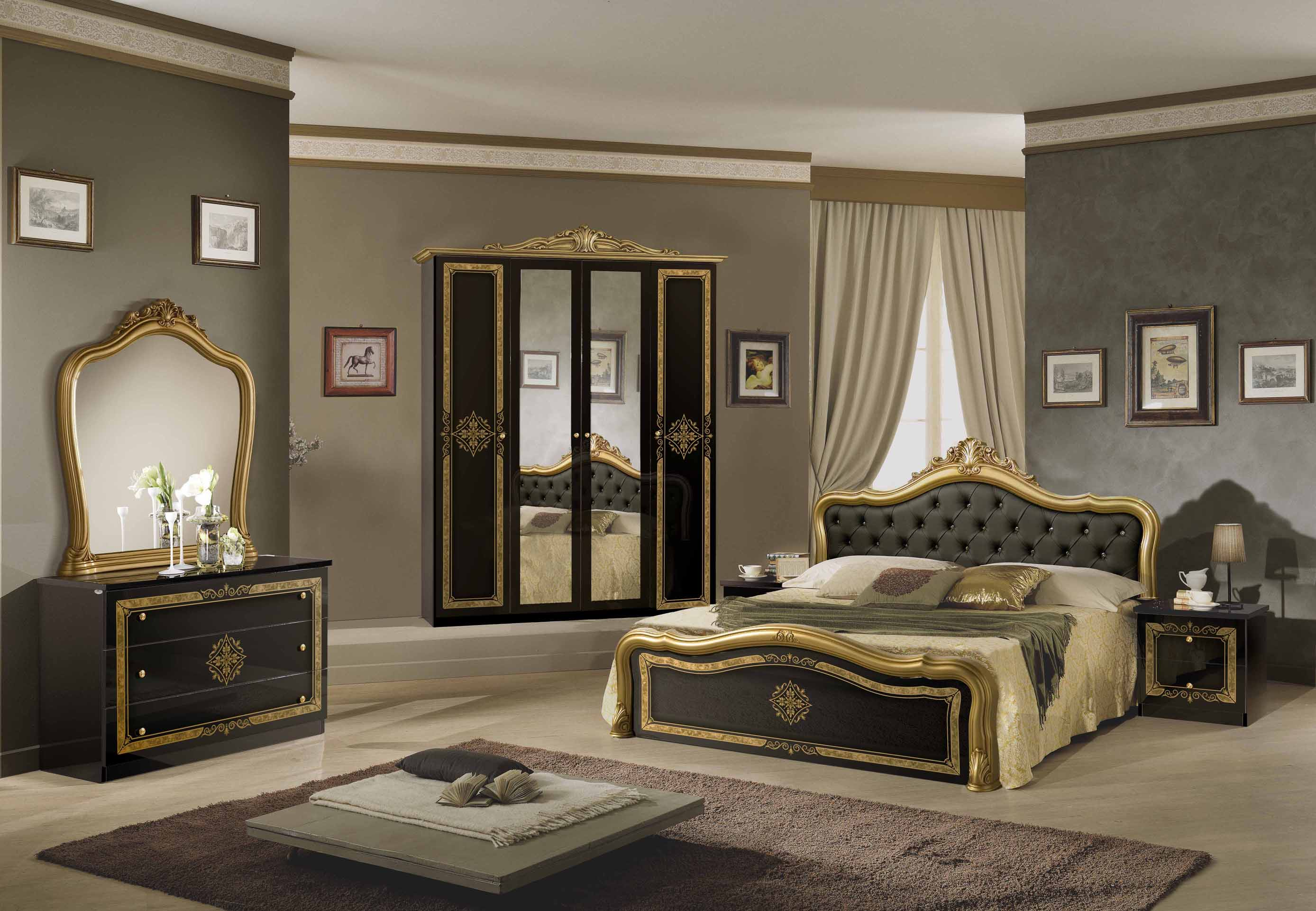 kleiderschrank 6 t rig lucy walnuss f r klassische. Black Bedroom Furniture Sets. Home Design Ideas
