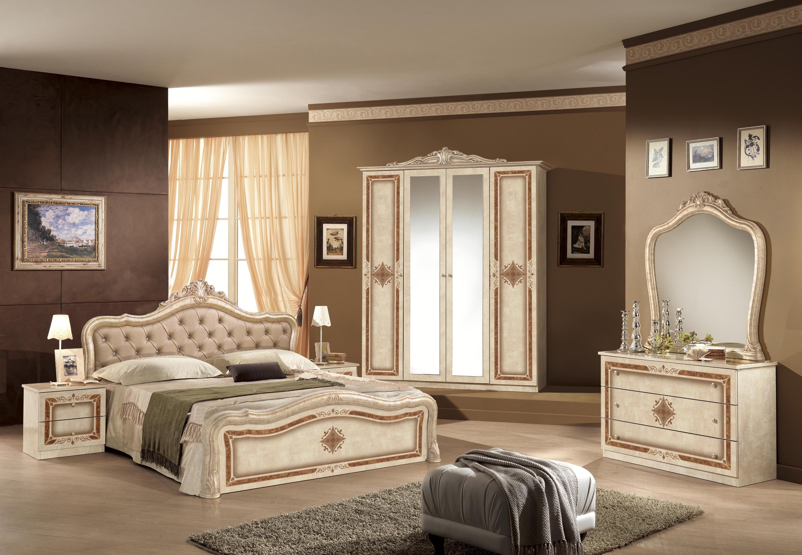 Kleiderschrank 6-türig Lucy walnuss für klassische Schlafzimmer-AR ...