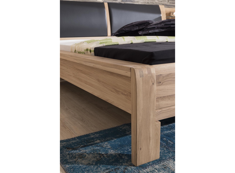 Schlafzimmer Olla Asteiche Bianco massiv Design Bett Schrank-50EBTT02